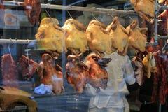 Gekookte Kippen in het Venster Royalty-vrije Stock Afbeelding