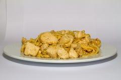 gekookte kippenborst op witte achtergrond royalty-vrije stock fotografie