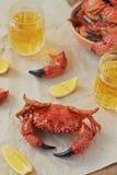 Gekookte krabben Stock Foto
