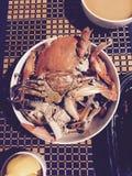 Gekookte Krabben Royalty-vrije Stock Afbeeldingen