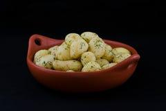 Gekookte nieuwe aardappels Stock Afbeelding