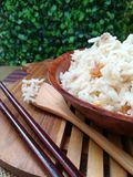 Gekookte rijst royalty-vrije stock fotografie