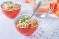 Gekookte rijst Stock Afbeelding