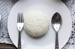 Gekookte rijst Royalty-vrije Stock Foto