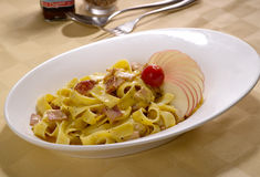 Gekookte spaghetti Stock Fotografie
