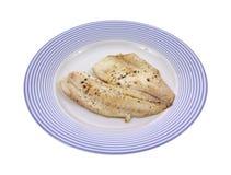 Gekookte tilapia op plaat Stock Foto