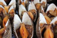 Gekookte tweekleppige schelpdieren voor verkoop royalty-vrije stock foto's