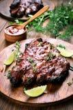 Gekookte varkensvleesribben Royalty-vrije Stock Afbeeldingen