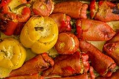 Gekookte vegetarische schotel Royalty-vrije Stock Afbeeldingen
