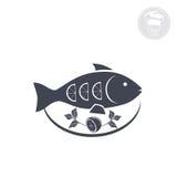 Gekookte vissen Stock Afbeelding