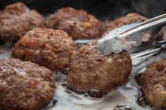 Gekookte vleesballetjes Royalty-vrije Stock Fotografie
