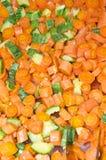Gekookte wortelen Stock Afbeelding