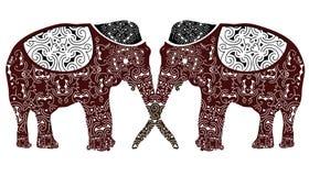 Gekopierte Elefanten Lizenzfreie Stockbilder