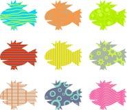 Gekopierte Fische lizenzfreie abbildung