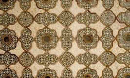 Gekopierte Gestaltungsarbeit in der Decke. Bernsteinfarbiges Fort Indien Lizenzfreie Stockbilder