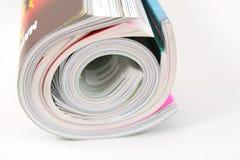 Gekräuselte Zeitschriften lizenzfreie stockfotos