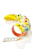 Gekräuseltes messendes Band Stockfoto