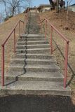 Gekrümmte Treppe Lizenzfreies Stockfoto