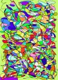 Gekrabbel abstract multicolored patroon, gebrandschilderd glas backgroun Royalty-vrije Stock Afbeelding