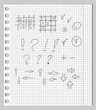Gekrabbel in een Notitieboekje Stock Afbeeldingen