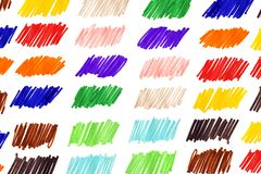 gekrabbel kleurrijk geschrift stock foto