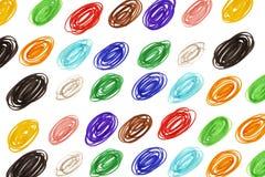 gekrabbel kleurrijke cirkels stock afbeeldingen