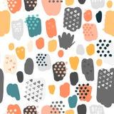 In gekrabbel naadloos patroon in pastelkleuren royalty-vrije illustratie