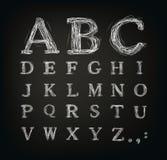 Gekrabbeld alfabet Royalty-vrije Stock Foto