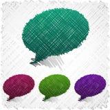 Gekrabbelde toespraakvormen. Stock Foto