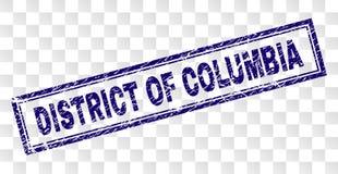 Gekrast DISTRICT VAN de Rechthoekzegel van COLOMBIA royalty-vrije illustratie