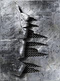 Gekrast gescheurd metaal Stock Fotografie