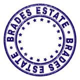 Gekrast Geweven BRADES-LANDGOED om Zegelverbinding stock illustratie