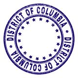 Gekrast Geweven DISTRICT VAN COLOMBIA om Zegelverbinding stock illustratie
