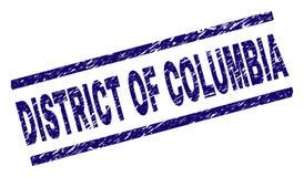 Gekrast Geweven DISTRICT VAN de Zegelverbinding van COLOMBIA royalty-vrije illustratie