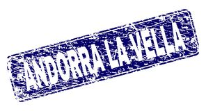 Gekrast La VELLA van ANDORRA ontwierp Rond gemaakte Rechthoekzegel royalty-vrije illustratie