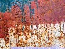 Gekrast Oud Rusty Grunge Metal Texture Background stock afbeeldingen