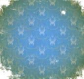 Gekrast patroon met bloemenornament Stock Afbeelding