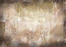 Gekrast uitstekend abstract grungethema met zwarte geschaafde randen Stock Fotografie