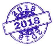 Gekraste Geweven de Zegelverbinding van 2018 vector illustratie