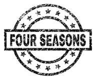 Gekraste Geweven FOUR SEASONS-Zegelverbinding royalty-vrije illustratie