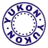 Gekraste Geweven YUKON om Zegelverbinding stock illustratie