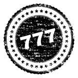 Gekraste Geweven 777 Zegelverbinding Stock Afbeelding