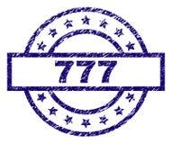 Gekraste Geweven 777 Zegelverbinding Royalty-vrije Stock Afbeelding