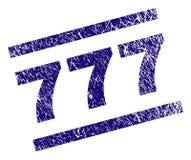 Gekraste Geweven 777 Zegelverbinding royalty-vrije illustratie