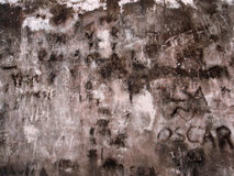 Gekraste omhoog Oude Muur Royalty-vrije Stock Foto's