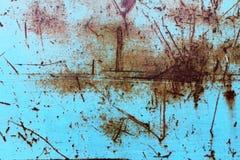 Gekraste roestige blauwe oppervlakte Royalty-vrije Stock Afbeeldingen