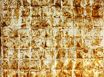 Gekraste roestige metaaloppervlakte Stock Afbeelding