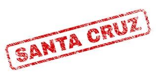 Gekraste SANTA CRUZ Rounded Rectangle Stamp royalty-vrije illustratie