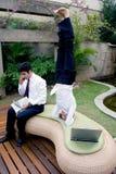 Gekregen Headstand? Stock Foto's