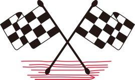 Gekreuzte Checkered Markierungsfahnen Stockbild